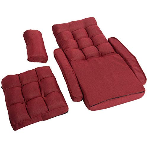 Super Merax Folding Lazy Floor Chair Sofa Lounger Bed With Armrests And A Pillow Red Andrewgaddart Wooden Chair Designs For Living Room Andrewgaddartcom