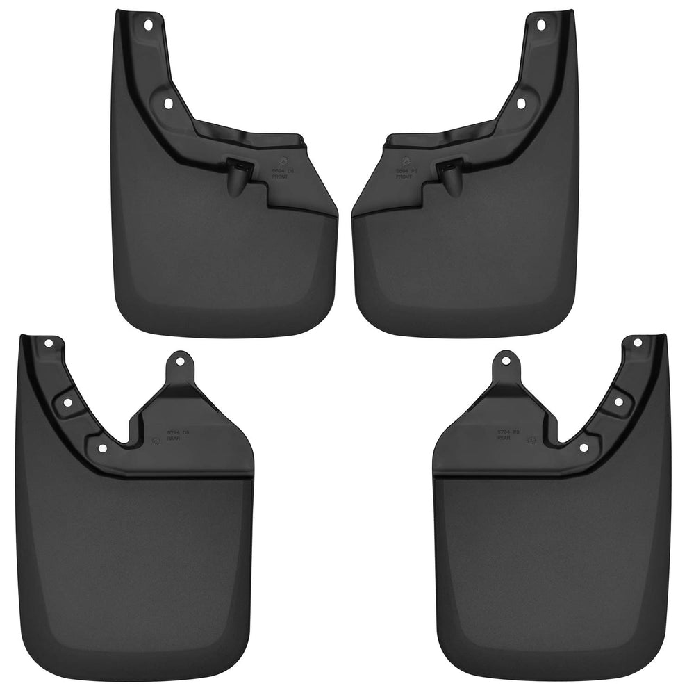 Husky Liners 56946 Black Front and Rear Custom Mud Guards Fits 16-19 Toyota Tacoma w/OE Fender Flares, 4 Pack
