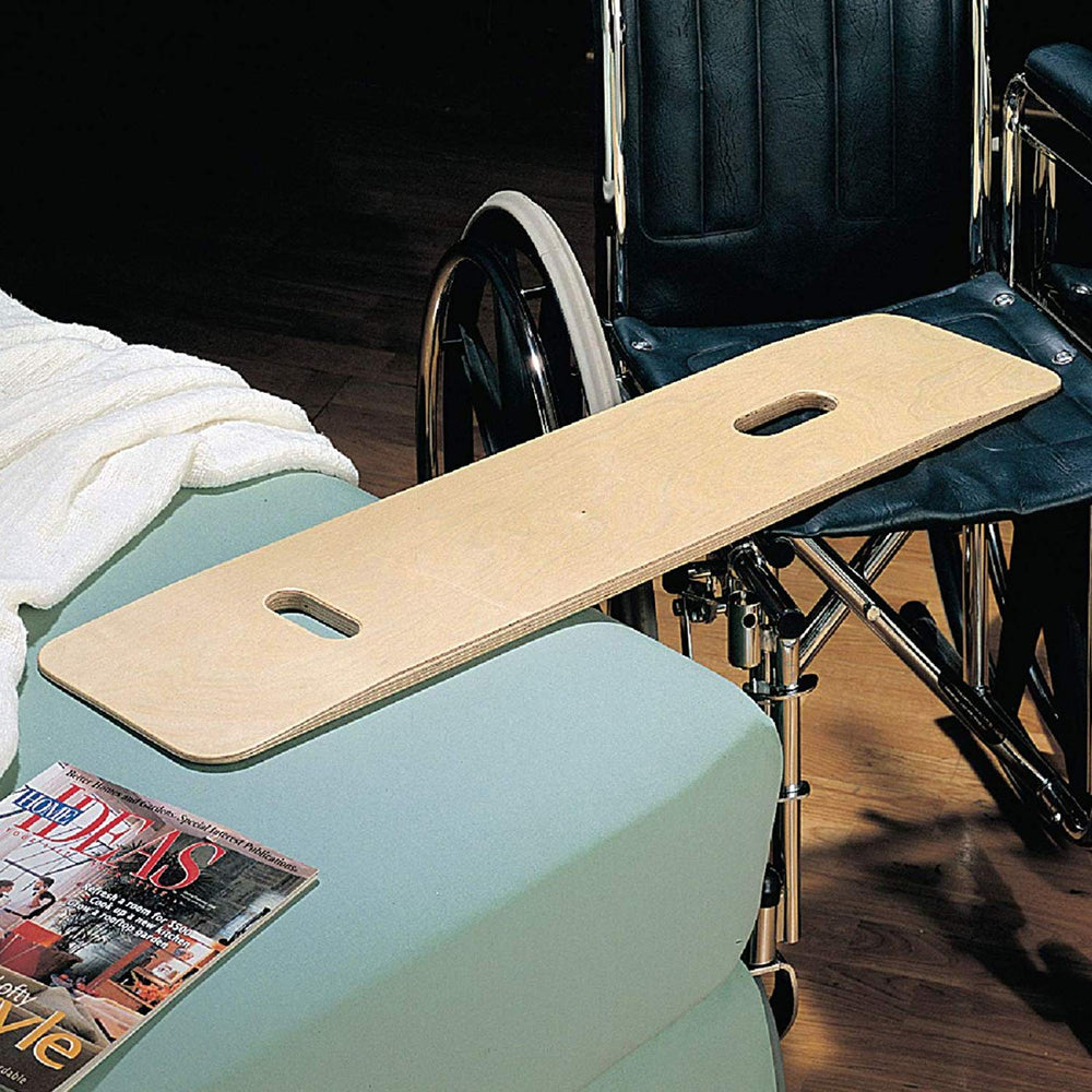 "Sammons Preston Bariatric Transfer Board for Wheelchair Users, Wooden Slide Board with Handles, 35"" Long & Strong Wood Slider Board with 600 lbs. Capacity"