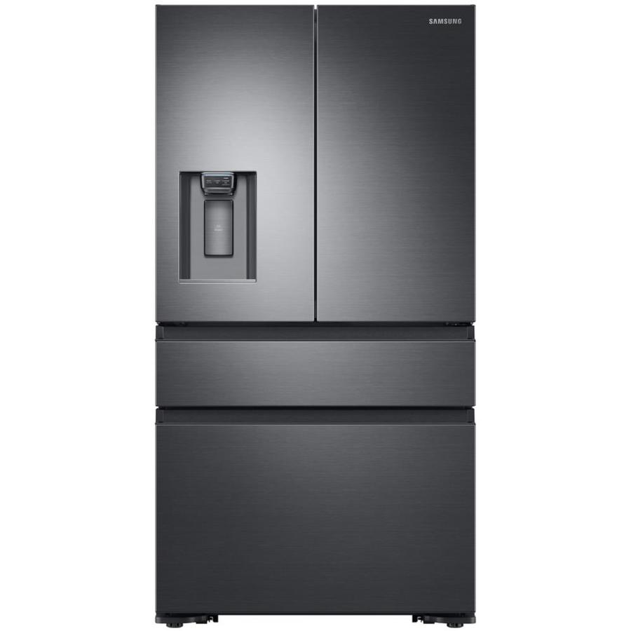 Samsung 22.7-cu ft 4-Door Counter-Depth French Door Refrigerator with Ice Maker (Fingerprint-Resistant) ENERGY STAR