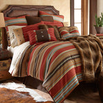 HiEnd Accents 5 Piece Calhoun Western Bedding Set, Super Queen