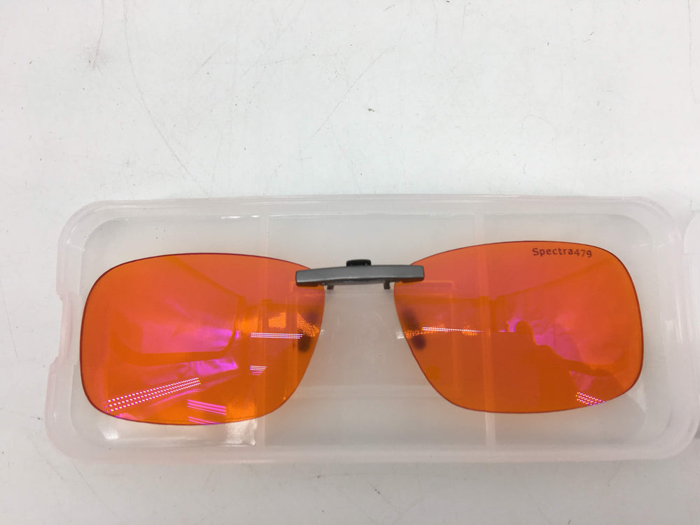 Clip-on Blue Blocking Amber Lenses for Sleep - BioRhythm Safe(TM) - Nighttime Eye Wear - Special Orange Tinted Lenses Help You Sleep and Relax Your...