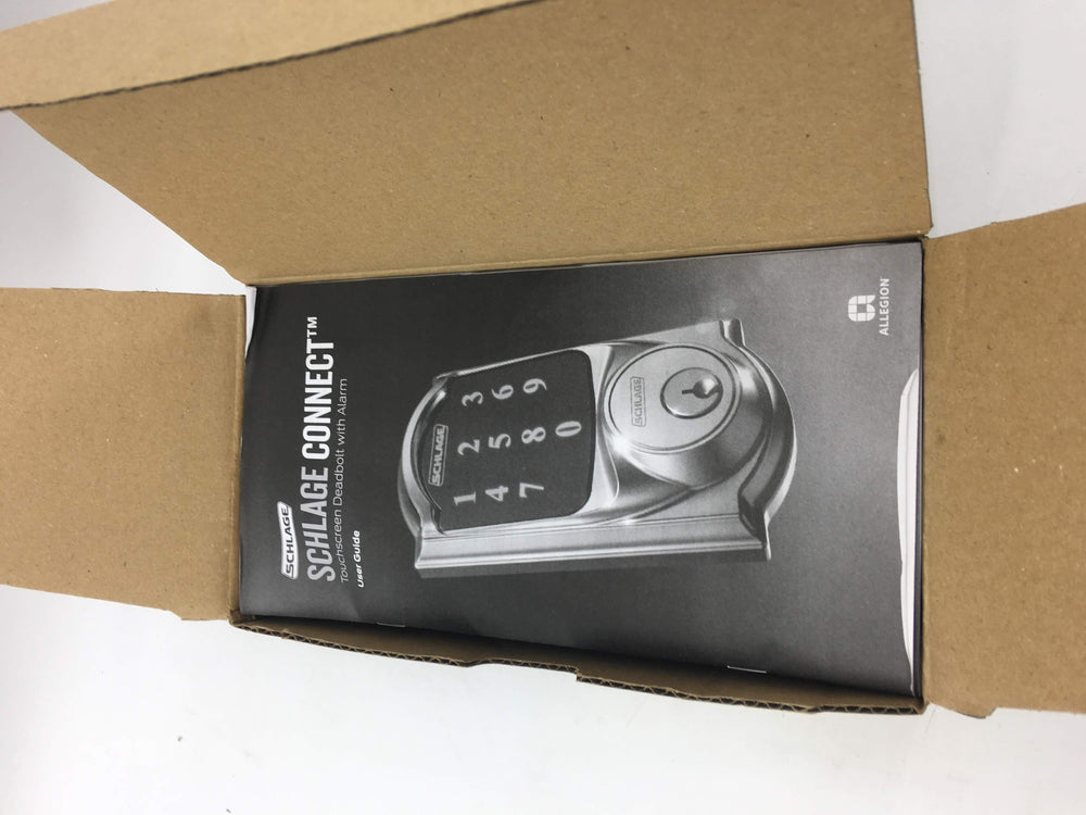 Schlage Z-Wave Connect Camelot Touchscreen Deadbolt with Built-In Alarm, Aged Bronze, FE469NX ACC 716 CAM LH, Works with Alexa via Wink