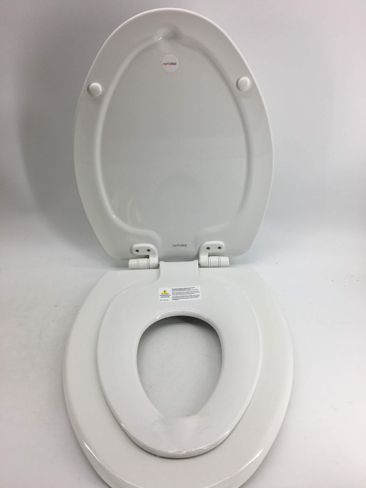 Superb Mayfair Nextstep Toilet Seat With Built In Potty Training Seat Will Reduce Clutter Slow Close And Never Loosen Elongated Durable Enameled Wood Long Gmtry Best Dining Table And Chair Ideas Images Gmtryco