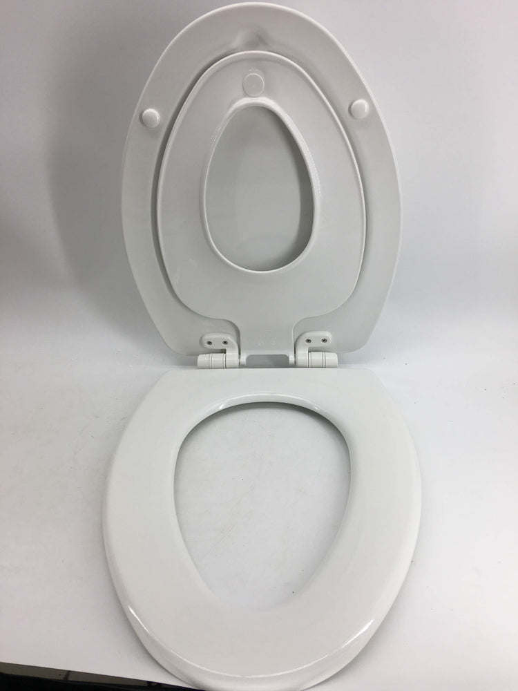 Fantastic Mayfair Nextstep Toilet Seat With Built In Potty Training Seat Will Reduce Clutter Slow Close And Never Loosen Elongated Durable Enameled Wood Long Gmtry Best Dining Table And Chair Ideas Images Gmtryco
