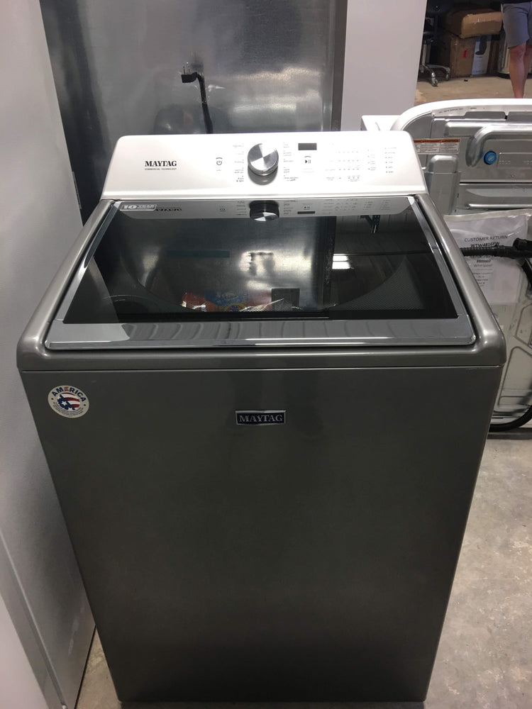 Maytag 5.2-cu ft High Efficiency Top-Load Washer (Metallic Slate)