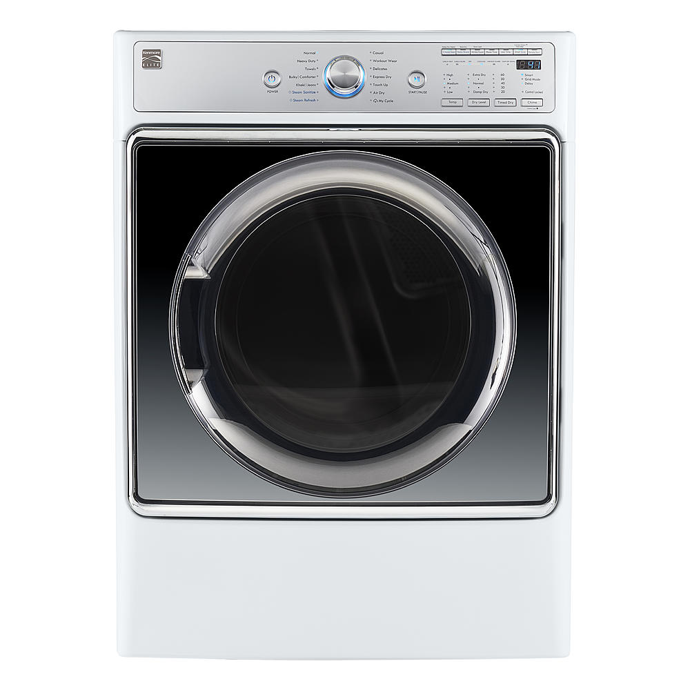 Kenmore Elite 91982 9.0 cu. ft. Smart Gas Dryer w/ Accela Steam Technology – White