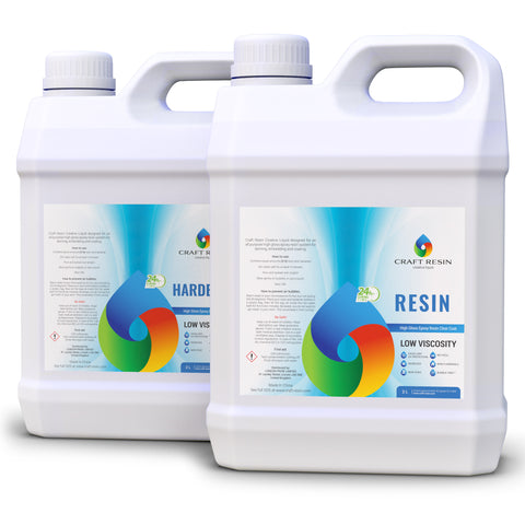 Craft Resin – 8L Pro Kit Clear Epoxy Resin and Hardener for Art