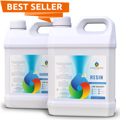 Craft Resin – 4L Pro Kit Clear Epoxy Resin and Hardener for Art