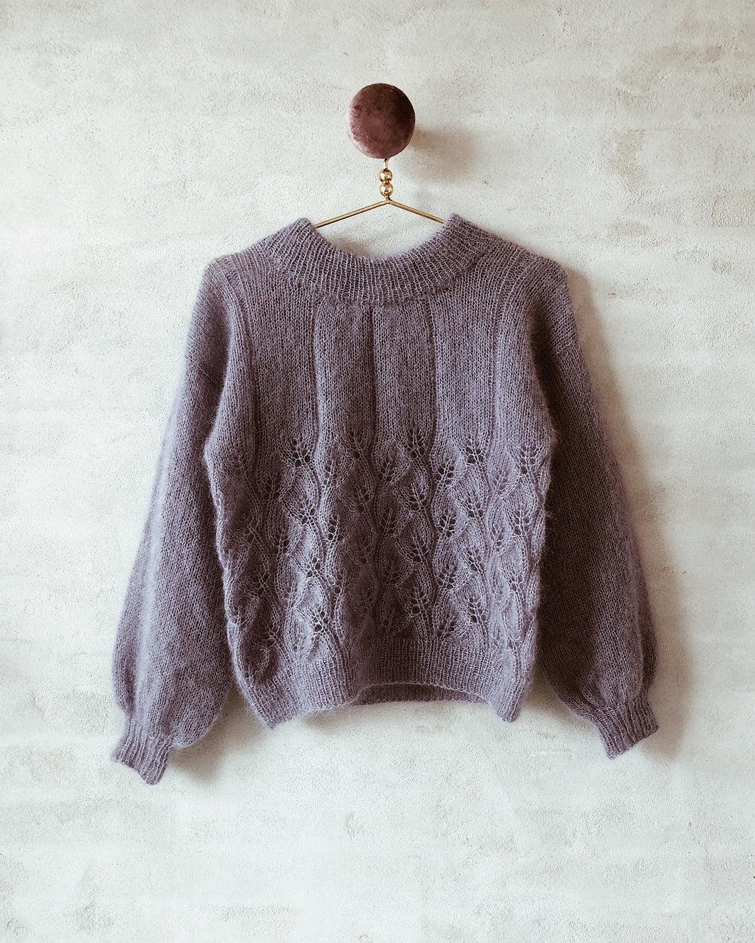 Leaf Me Sweater With a Twist (ENGLISH)