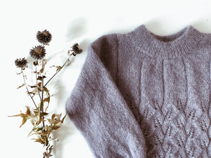 Leaf me sweater with a twist