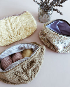 Knitted Bag of Spring (opskrift og syguide)