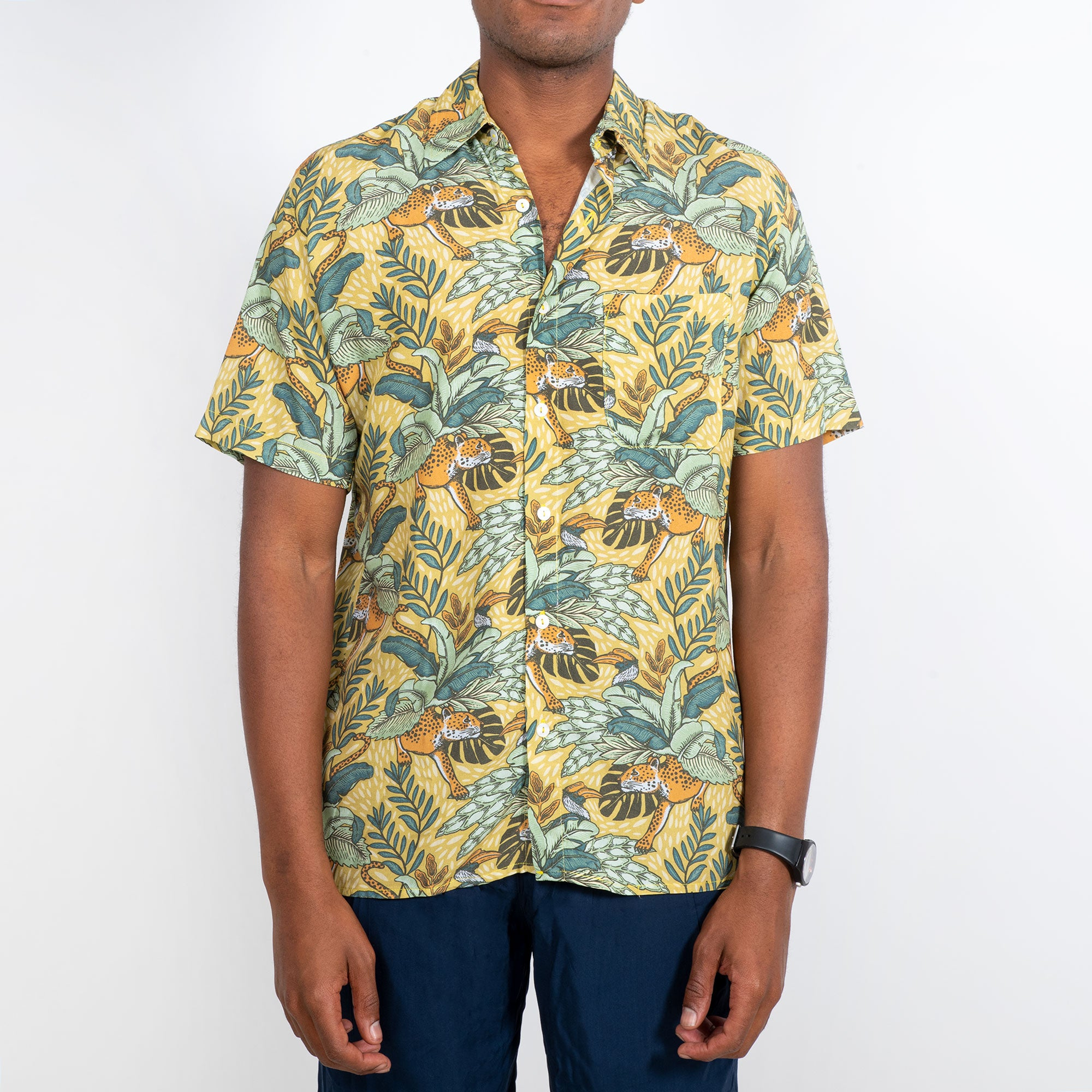Holiday Shirt / Yellow Leopard