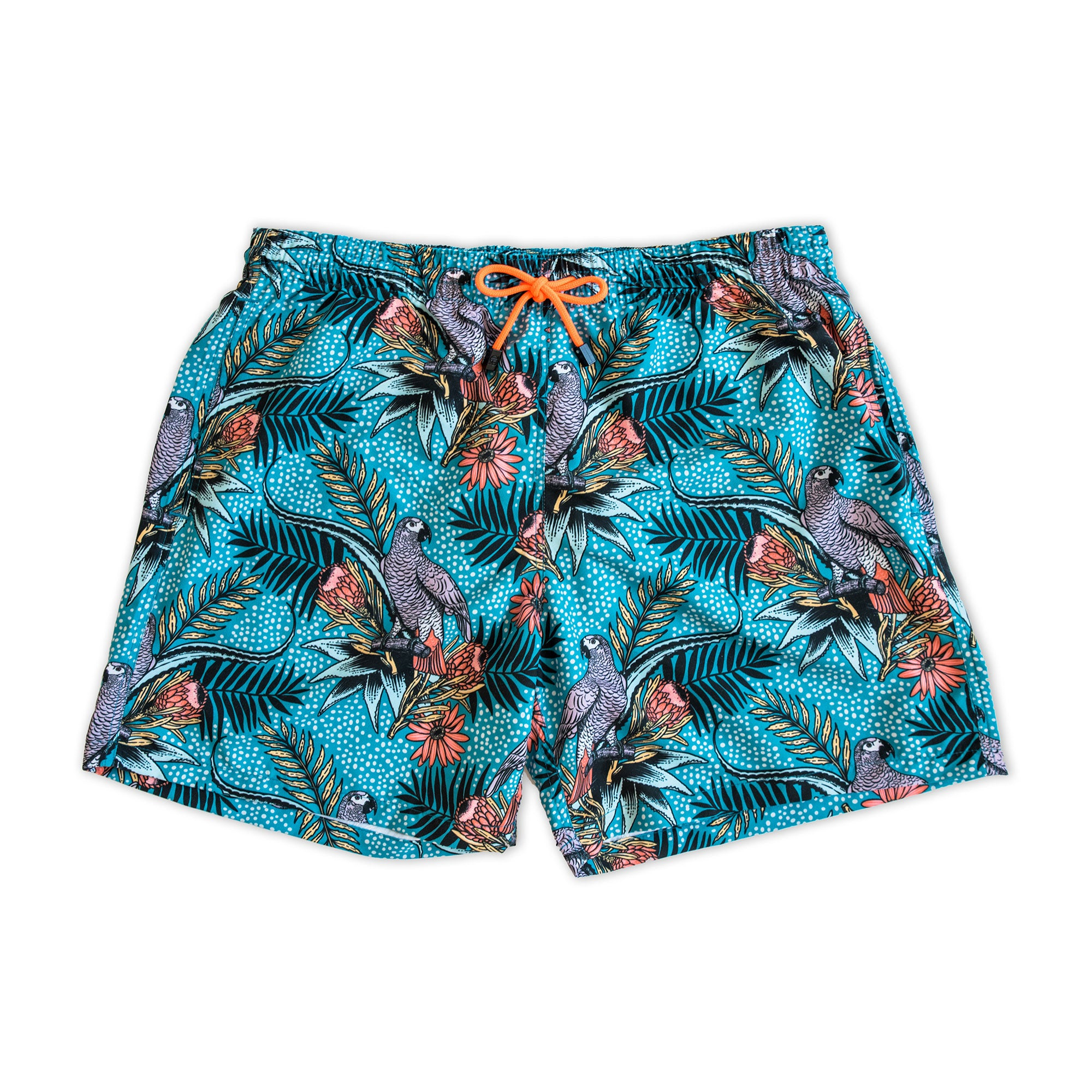 Swim Shorts / Green Parrot