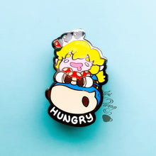 "Load image into Gallery viewer, ZELDA B.O.T.W- CHONK LINK ""Hungry"" Pin"