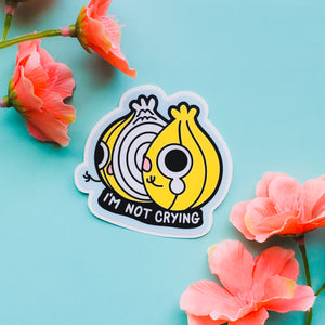 "ONION ""I'M NOT CRYING""- STICKER"