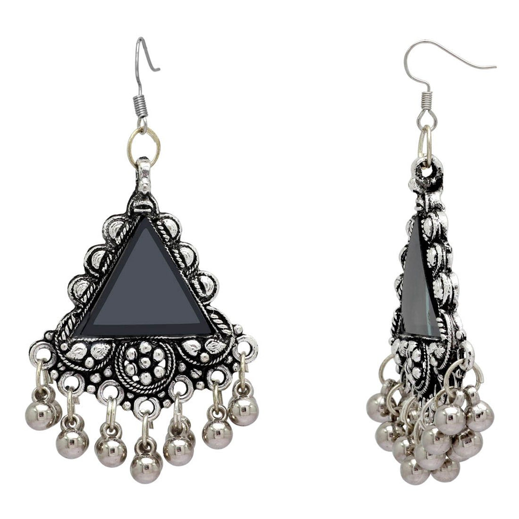 e3fbdb8be Oxidised Afghani Earrings With Mirror Work For Women And Girls ...