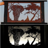 Metal Light<br><span style='font-size:75%'>Elephant Themed<br>22.04 x 35.43 x 3.54'', 27.46 lbs</span>