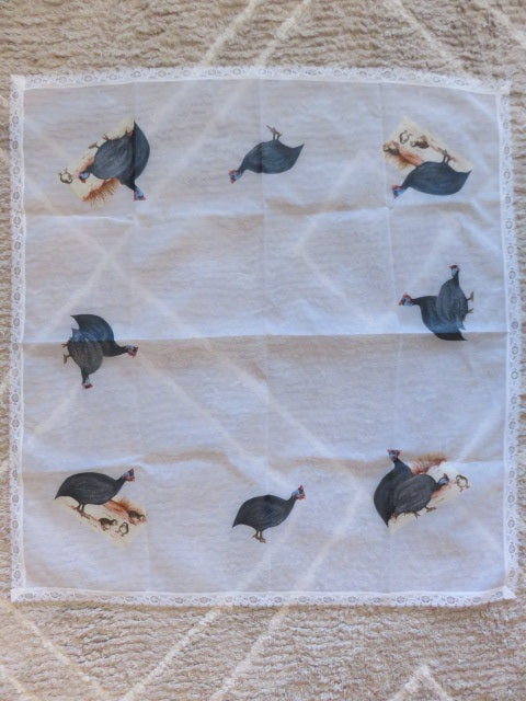 Guinea Fowl Theme<br><span style='font-size:75%'>Table Cloth (medium)<br>35.43 x 33.46'', 0.22 lbs</span>