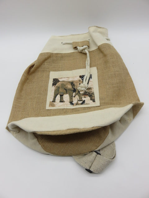 Elephant Theme<br><span style='font-size:75%'>Bag from Woven Material<br>17 x 14.5'', 0.52 lbs</span>
