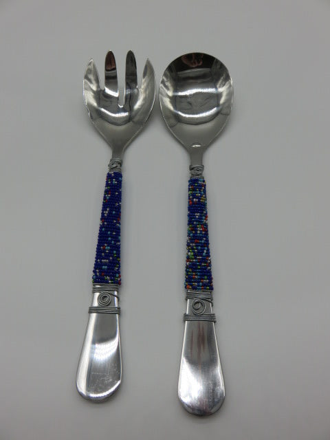 Salad Set<br><span style='font-size:75%'> with Beaded Handles<br>9.84 x 3.93'', 0.44 lbs</span>