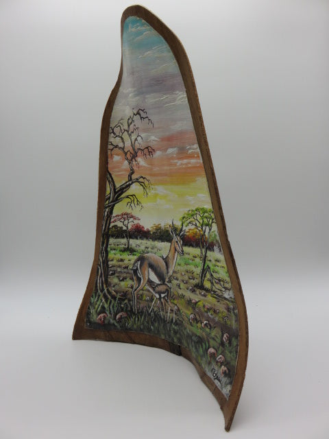 Painting<br><span style='font-size:75%'>On Palm Leaf<br>19.20 x 12.60 x 4.0'', 2.09 lbs</span>