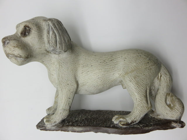 <span style='font-size:1em'>Dog</span><br><span style='font-size:0.7em'>Hand Carved White Opal Stone</span>