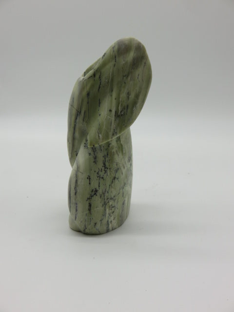 <span style='font-size:1em'>Elephant Abstract (small)</span><br><span style='font-size:0.7em'>Hand Carved Verdite Stone</span>