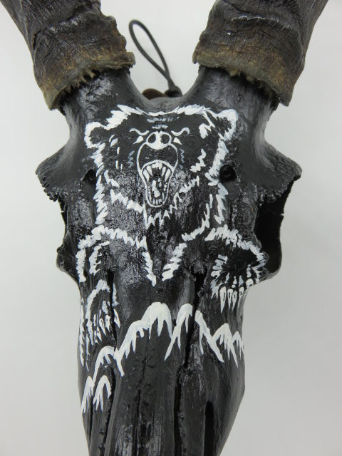 Bear Painting<br><span style='font-size:75%'>On Authentic Impala Skull<br>25.59 x 12.59'', 2.2 lbs</span>