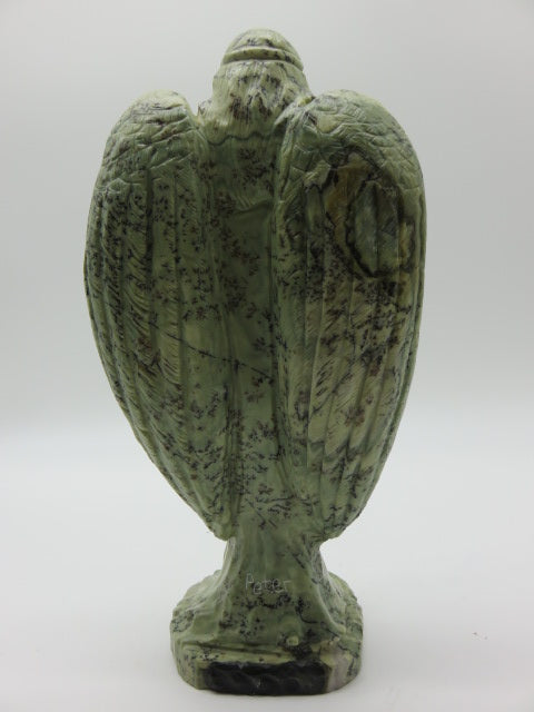 Hand Carved Angel<br><span style='font-size:75%'>Butter Jade Stone<br>10.62 x 5.31 x 2.95'', 4.49 lbs</span>