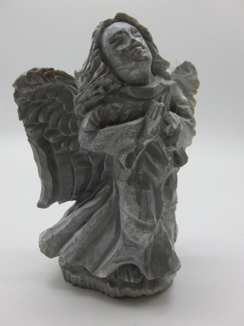 Hand Carved Angel<br><span style='font-size:75%'>Rapoko Stone<br>8.26 x 5.90 x 3.14'', 5.93 lbs</span>