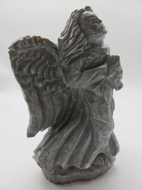 Hand Carved Angel<br><span style='font-size:75%'>from Rapoko Stone<br>8.26 x 5.90 x 3.14'', 5.93 lbs</span>