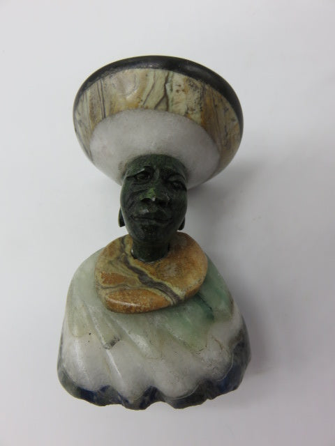 Bust (small)<br><span style='font-size:75%'>Various Hand Carved Stones<br>3.15 x 1.97 x 1.97'', 0.44 lbs</span>