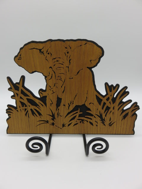 Elephant<br><span style='font-size:75%'>Hardboard Cut-Out<br>15 x 10.6 x 0.2'', 0.77 lbs</span>