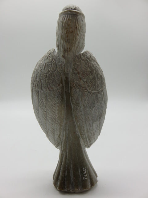 Hand Carved Angel<br><span style='font-size:75%'>White Opal Stone<br>9.84 x 4.72 x 2.55'', 3.19 lbs</span>