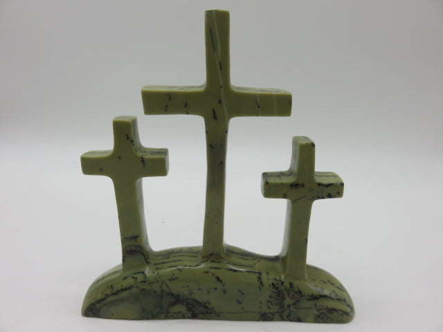 Hand Carved Crosses<br><span style='font-size:75%'>from Butter Jade Stone<br>8.26 x 7.87 x 1.57'', 2.4 lbs</span>
