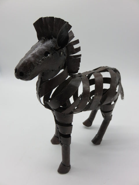 Zebra (small)<br><span style='font-size:75%'>from Recycled Metal<br>11.41 x 4.33 x 11.02'', 1.19 lbs</span>