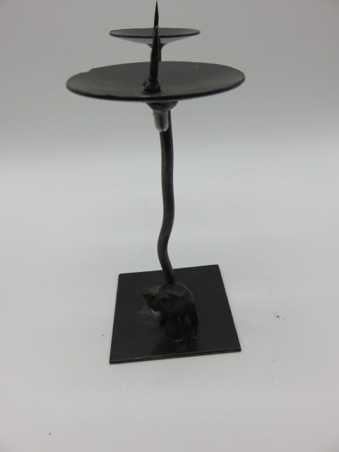 Elephant Candle Holder<br><span style='font-size:75%'>from Recycled Metal<br>8.7 x 8.2 x 3.9'', 3.9 lbs</span>