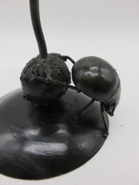 Dung beetle Candle Holder<br><span style='font-size:75%'>from Recycled Metal<br>10.2 x 6.3 x 6.3'', 1.76 lbs</span>