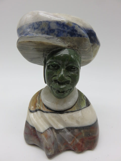 Bust (small)<br><span style='font-size:75%'>Various Hand Carved Stones<br>4.72 x 2.75 x 2.36'', 1.15 lbs</span>