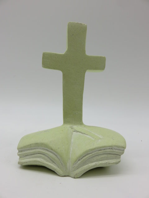 Hand Carved Bible & Cross<br><span style='font-size:75%'>from Yellow Stone<br>5.11 x 3.54 x 1.96'', 0.61 lbs</span>