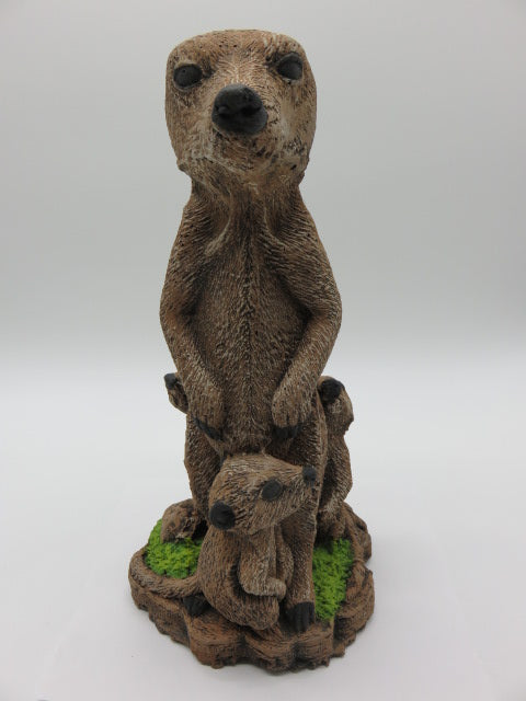 Meerkat Family<br><span style='font-size:75%'>from Cement<br>6.7 x 5.5 x 14.5'', 12.1 lbs</span>