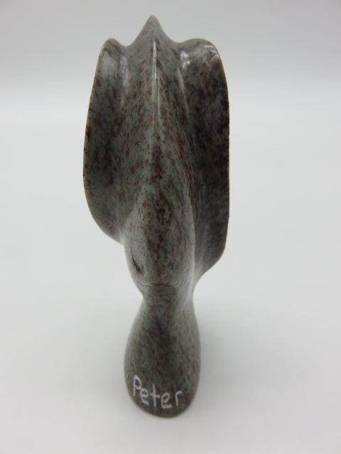Hand Carved Elephant<br><span style='font-size:75%'>from Soapstone<br>4.3 x 1.2 x 1.9'', 0.48 lbs</span>