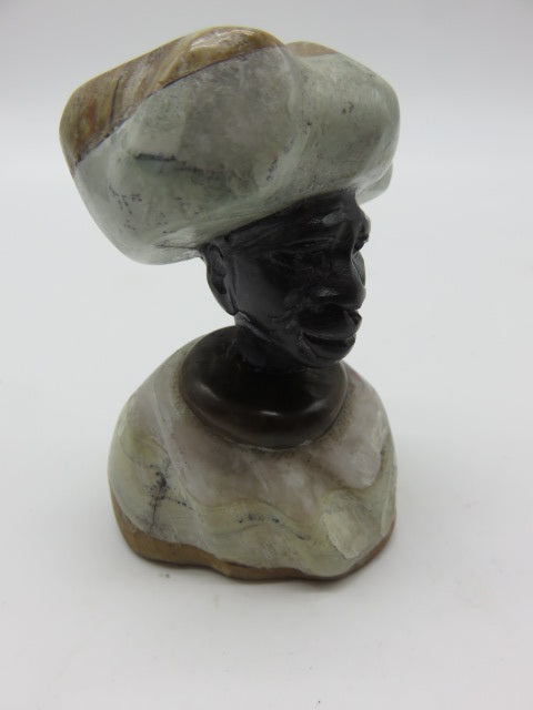 Bust<br><span style='font-size:75%'>carved from Stone<br>3.15 x 1.97 x 1.97'', 0.40 lbs</span>