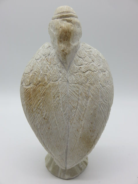 Hand Carved Angel<br><span style='font-size:75%'>from White Opal Stone<br>9.84 x 5.11 x 3.14'', 4.23 lbs</span>