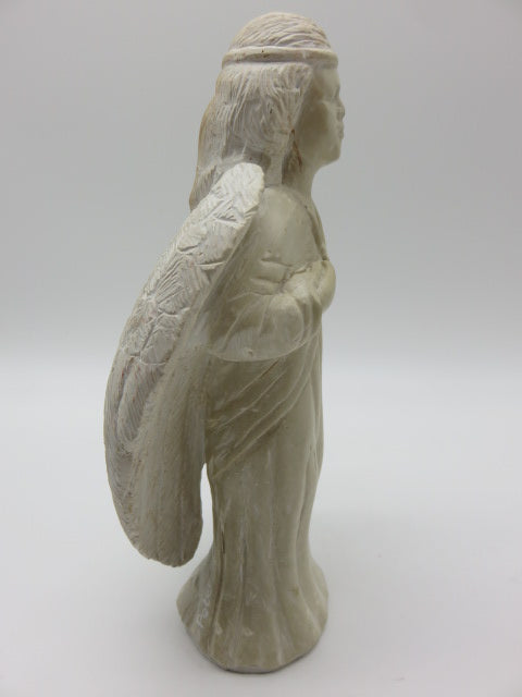 Hand Carved Angel<br><span style='font-size:75%'>White Opal Stone<br>9.84 x 5.11 x 3.14'', 4.23 lbs</span>