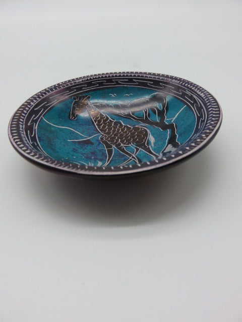 Painted Bowl (small)<br><span style='font-size:75%'>Hand Carved Soapstone<br>0.78 x 3.93'', 0.28 lbs</span>