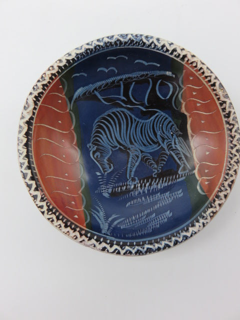 Painted Bowl (small)<br><span style='font-size:75%'>Hand Carved Soapstone<br>0.78 x 3.93'', 0.30 lbs</span>