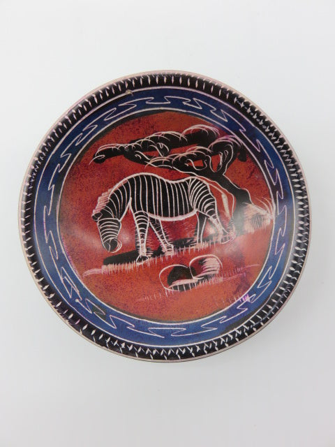 Painted Bowl (small)<br><span style='font-size:75%'>Hand Carved Soapstone<br>0.78 x 3.93'', 0.26 lbs</span>