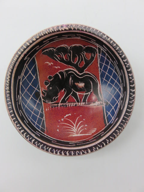 Painted Bowl (small)<br><span style='font-size:75%'>Hand Carved Soapstone<br>1.18 x 3.93'', 0.28 lbs</span>